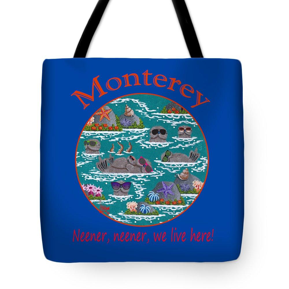 Merry Kohn Tote Bag featuring the painting Monterey Neener by Merry Kohn Buvia