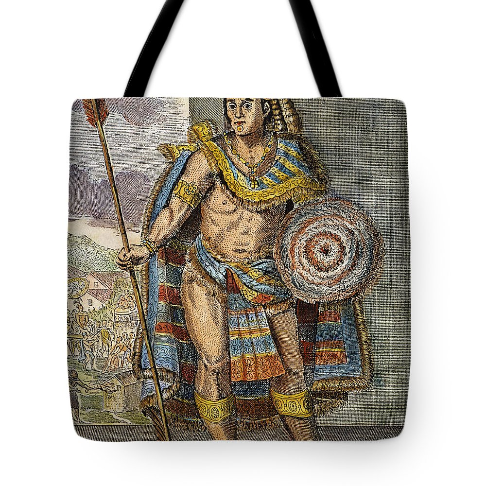 15th Century Tote Bag featuring the photograph Montezuma II (1480?-1520) by Granger