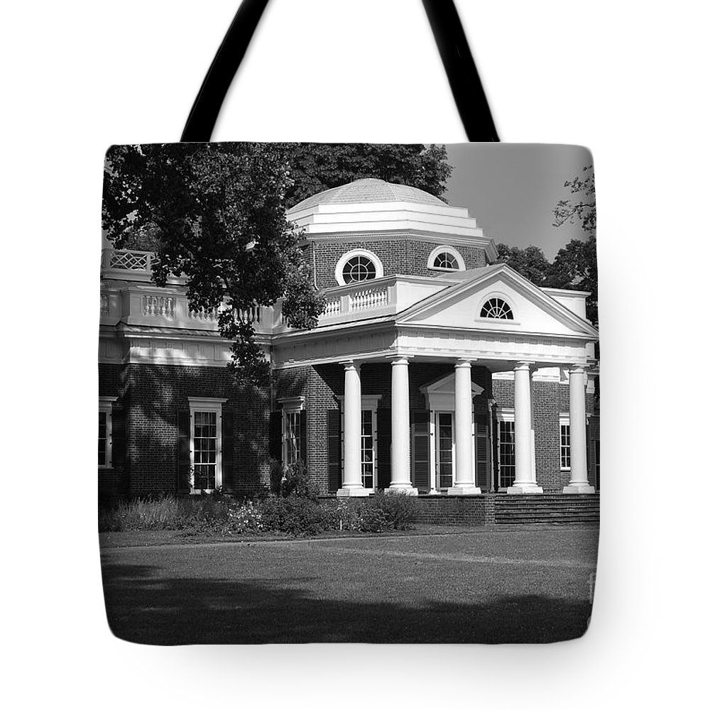 Monticello Tote Bag featuring the photograph Monticello by Eric Liller