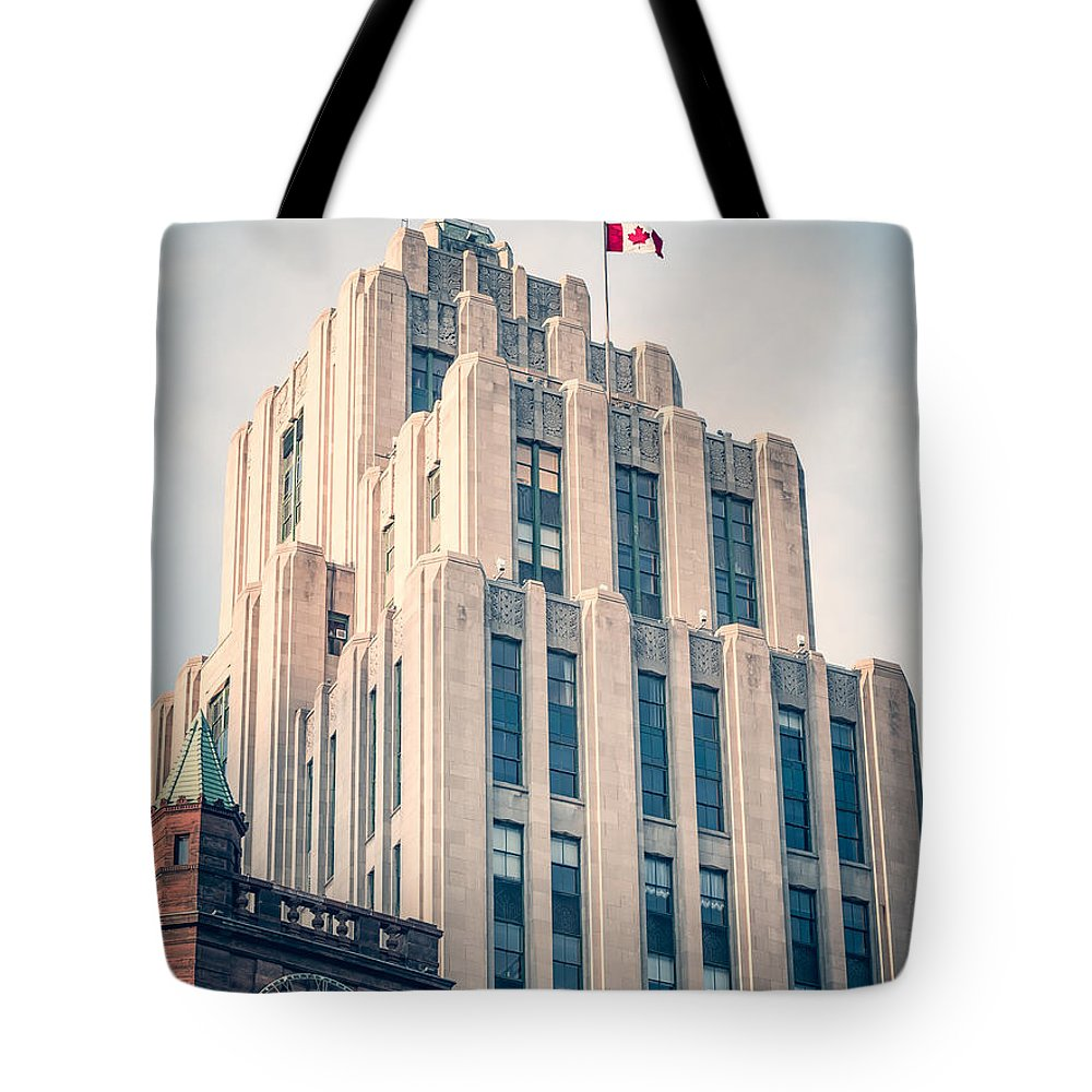 Montreal Tote Bag featuring the photograph Montreal - Aldred Building by Alexander Voss