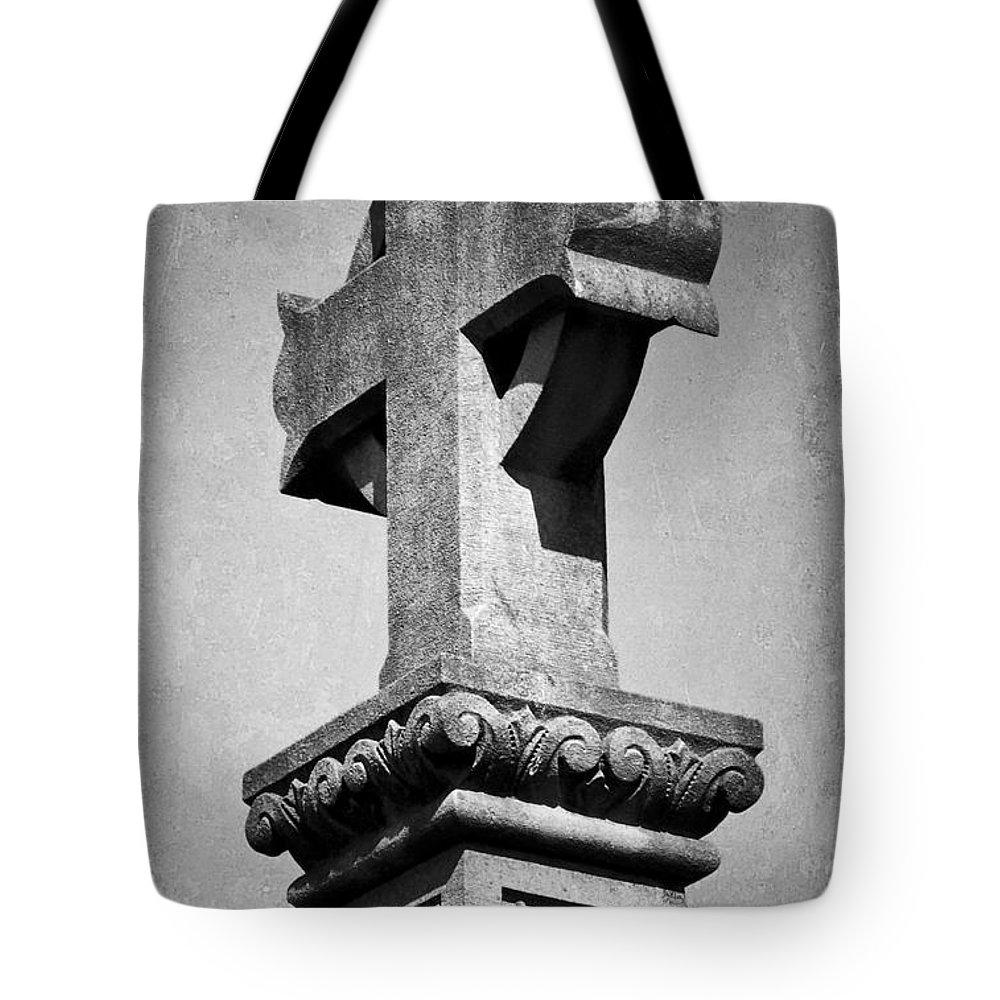 Irish Tote Bag featuring the photograph Monument Cross Macroom Ireland by Teresa Mucha