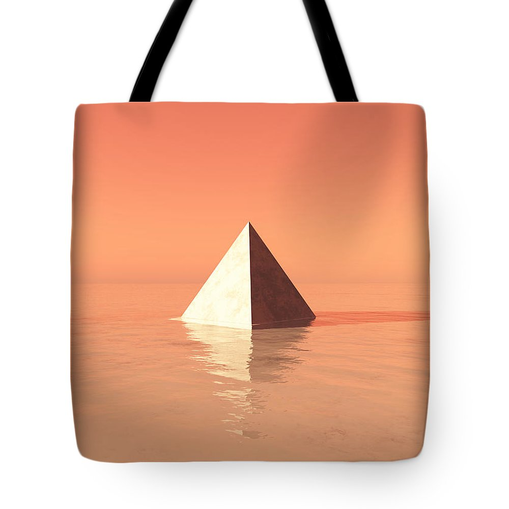 Pyramid Tote Bag featuring the digital art Monument Valley by Jay Salton