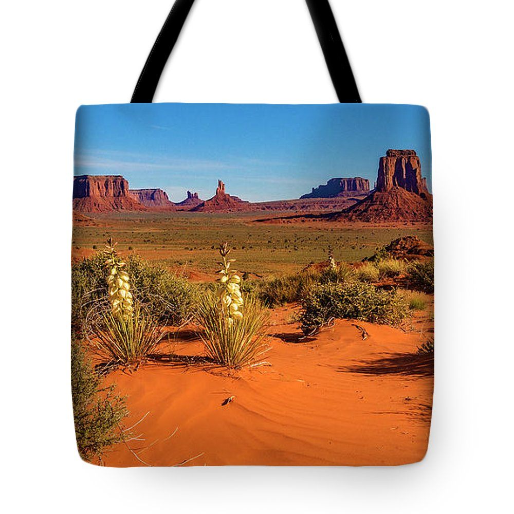 Monument Valley Tote Bag featuring the photograph Monument Valley by Norman Hall