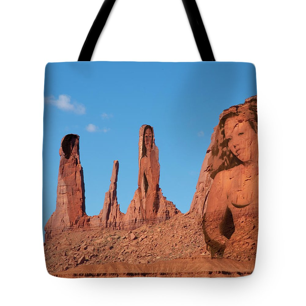 Monument Valley Tote Bag featuring the photograph Monument Valley Nymph #3 by Richard Henne