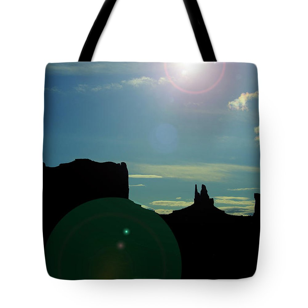 Monument Valley Tote Bag featuring the photograph Monument Valley silhouette by Roy Nierdieck