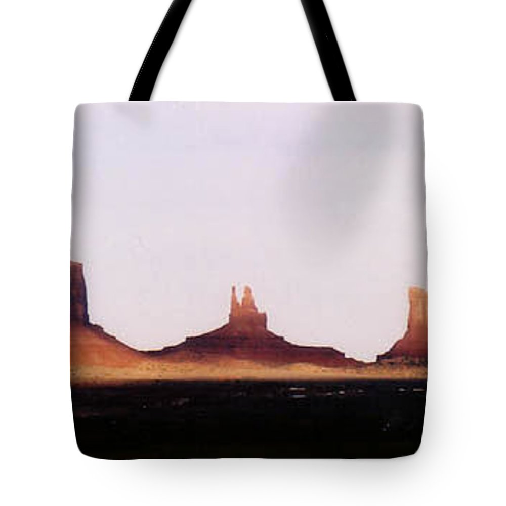 Landscape Tote Bag featuring the photograph Monumental Shadows by Cathy Franklin