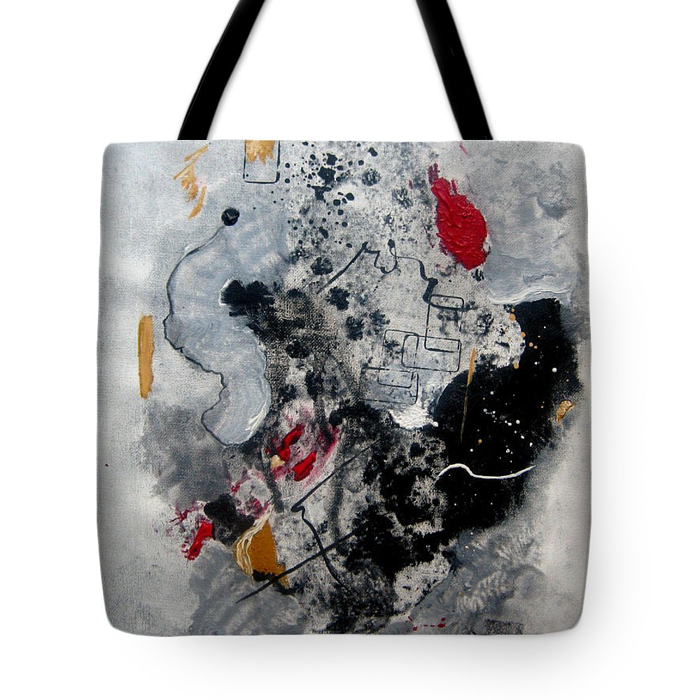 Abstract Tote Bag featuring the painting Moods II by Ruth Palmer