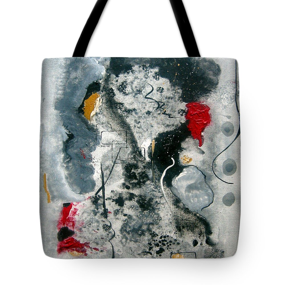 Abstract Tote Bag featuring the painting Moods by Ruth Palmer