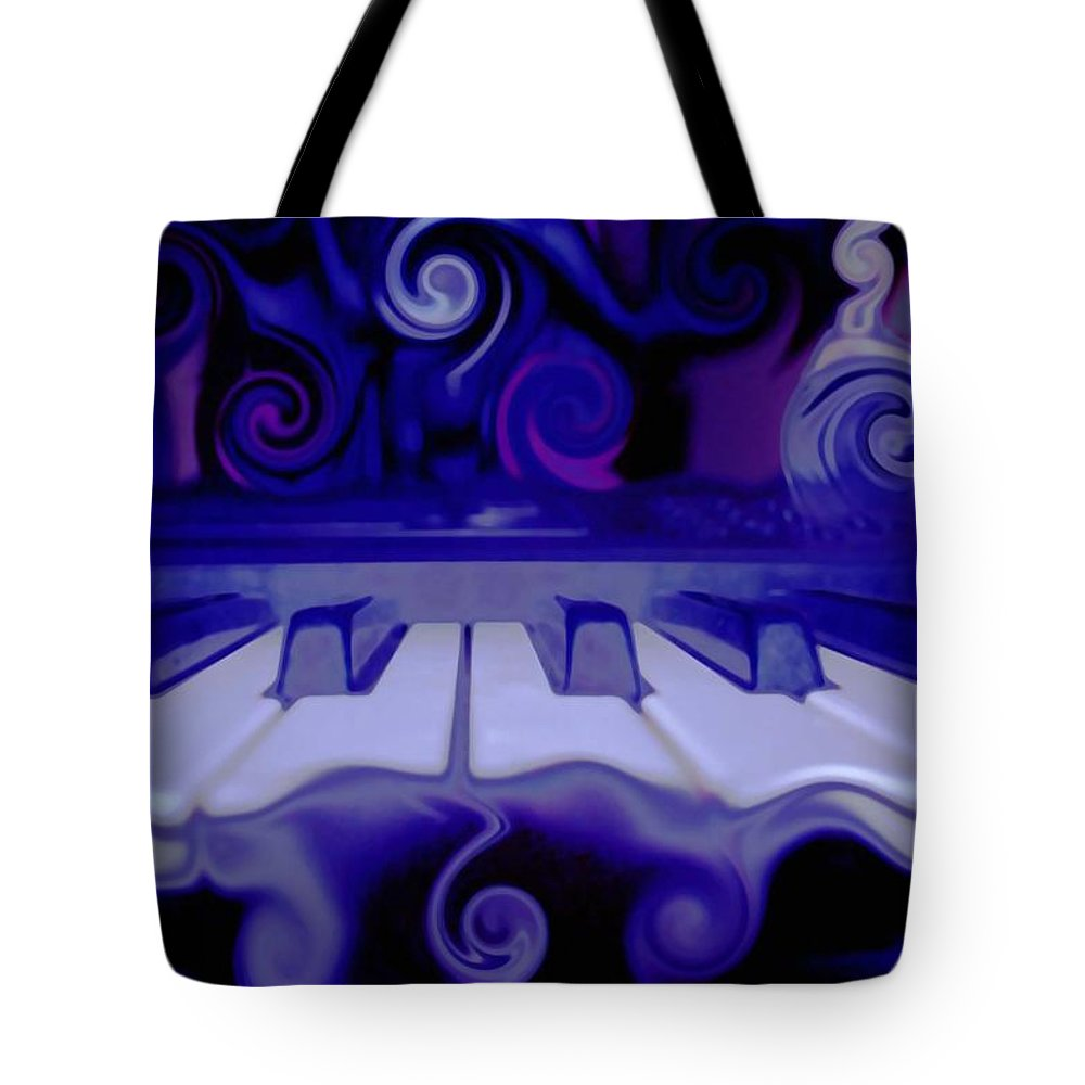 Music Tote Bag featuring the photograph Moody Blues by Linda Sannuti