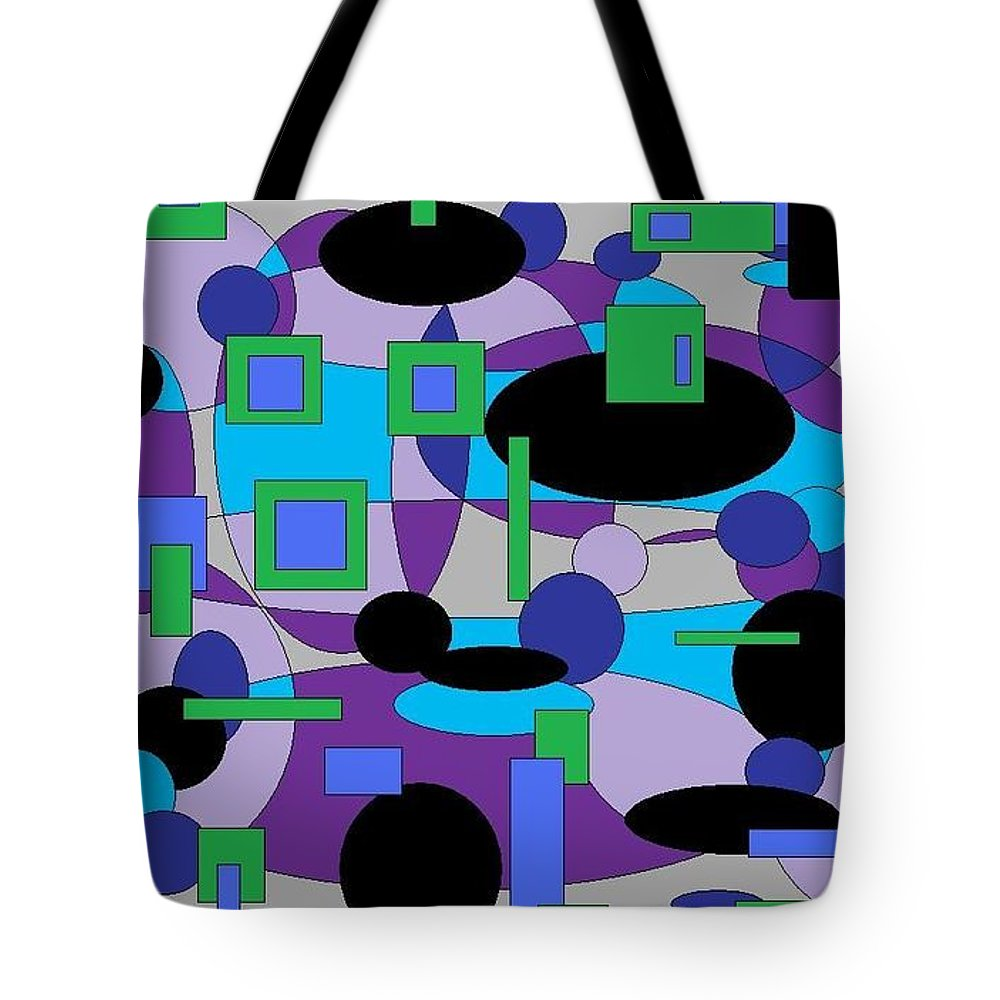 Digital Abstract Tote Bag featuring the digital art Moody Purple by Jordana Sands