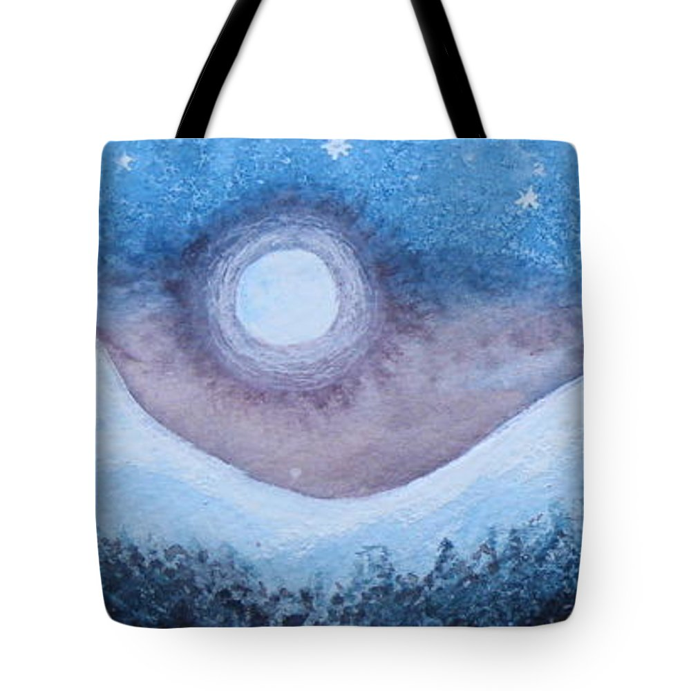 Moonscape Tote Bag featuring the painting Moon Glow by Margaret Bobb