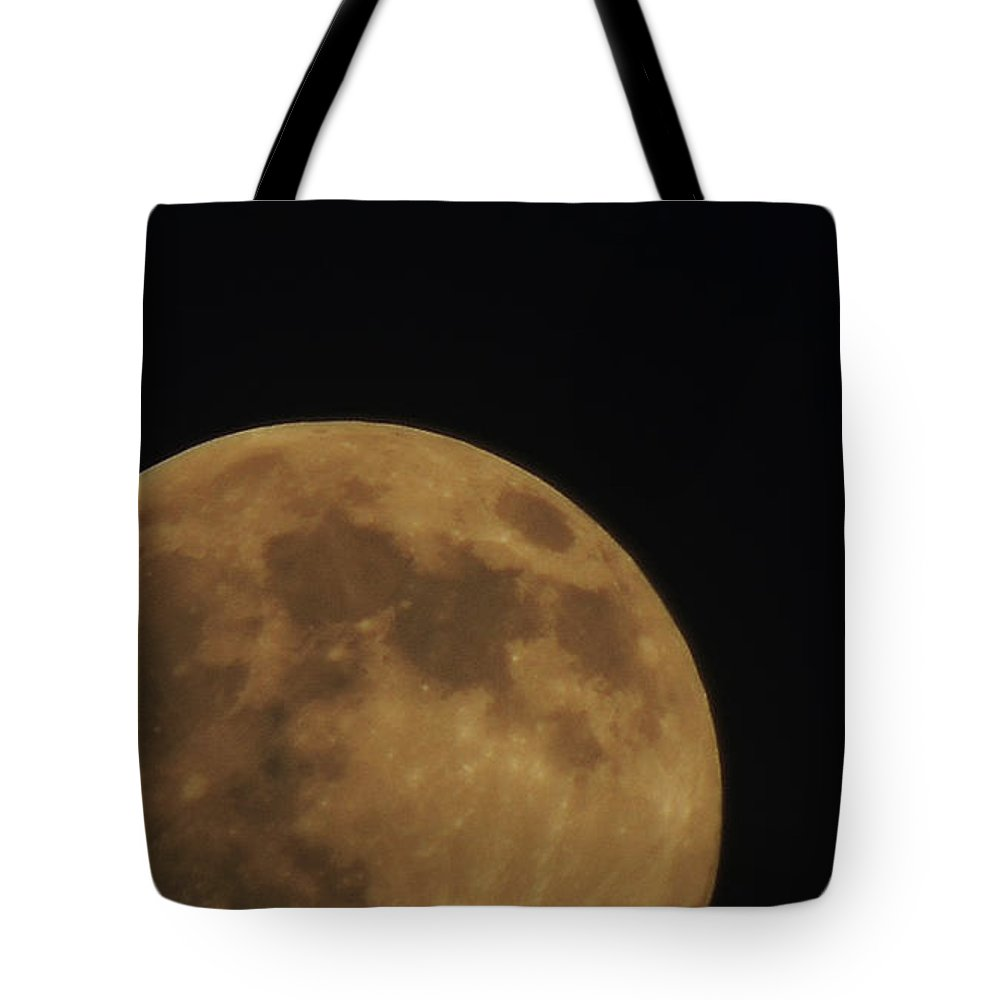 Moon Tote Bag featuring the photograph Moon Landing by Chris Patel