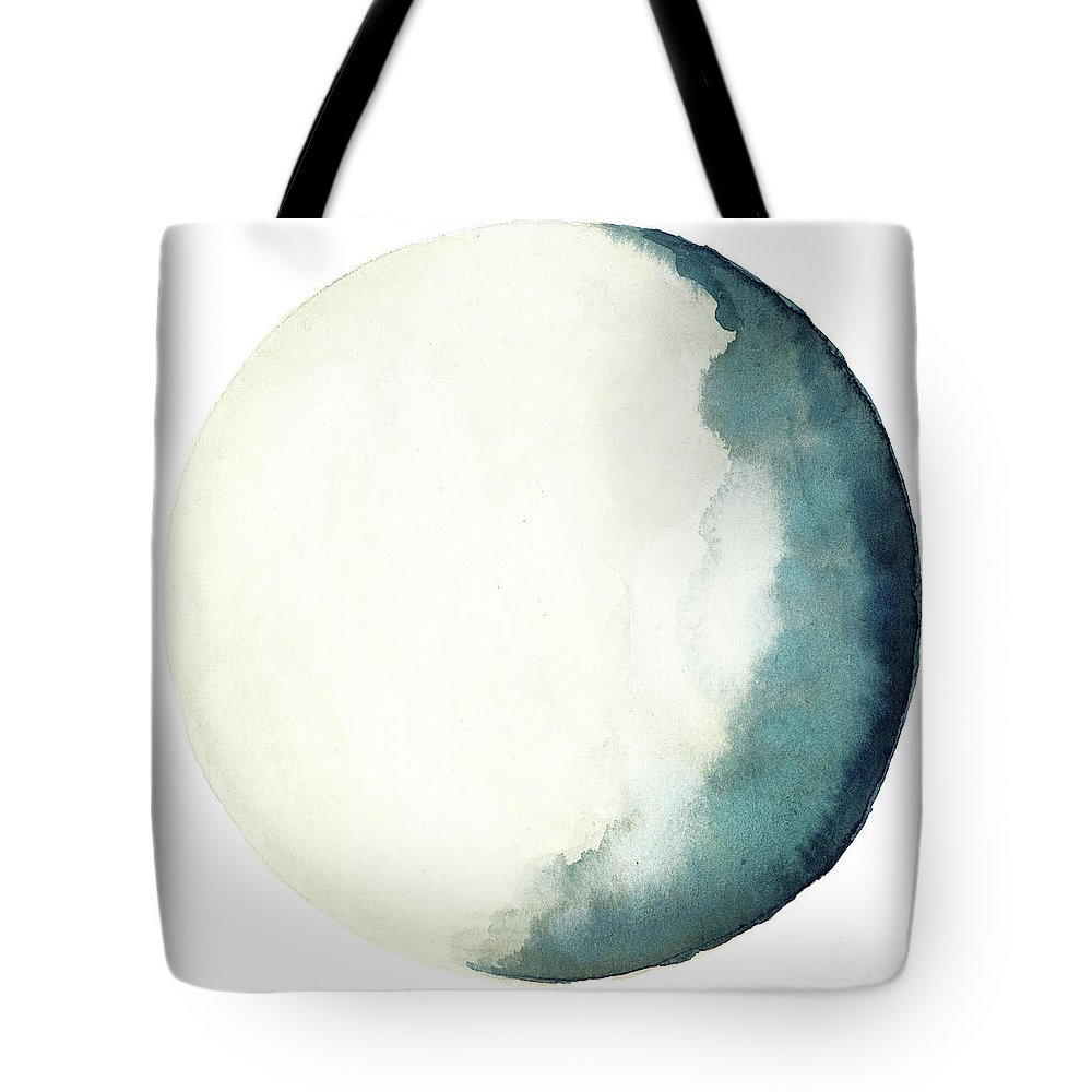 Moon Navy Blue Turquoise Yellow Crescent, Bedroom Watercolor Art ...