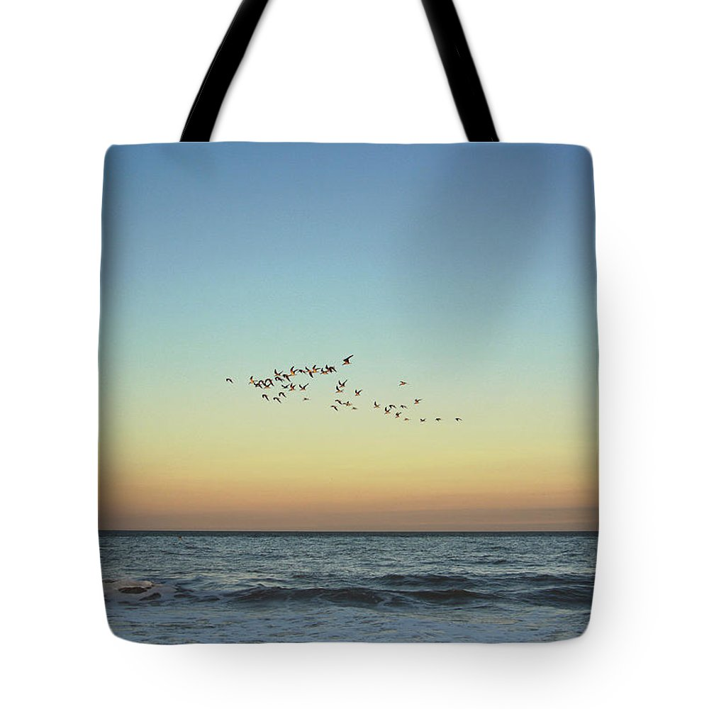 Island Tote Bag featuring the photograph Moon Over Tybee Island by JoAnn Grafton