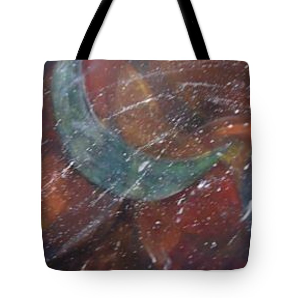 The Moon In All Its Glory Changing In The Sky. Moons Tote Bag featuring the mixed media Moon Phases by Charme Curtin