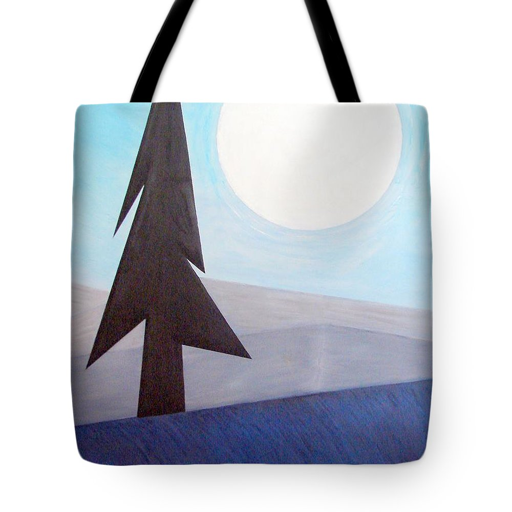 Impressionist Painting Tote Bag featuring the painting Moon Rings by J R Seymour