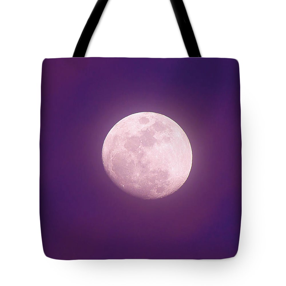 Moon Tote Bag featuring the photograph Moon Rising by Timothy Lauzon