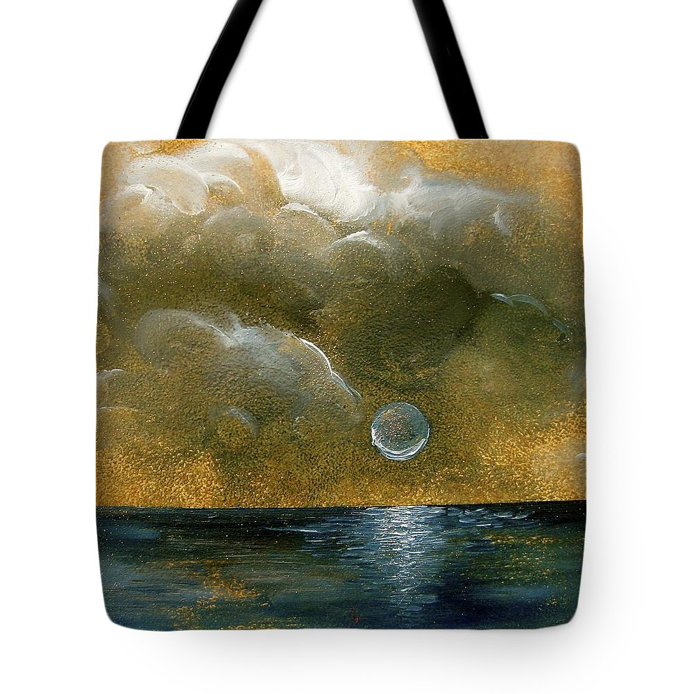 Moon Tote Bag featuring the painting Moon Scape by Karen Doyle