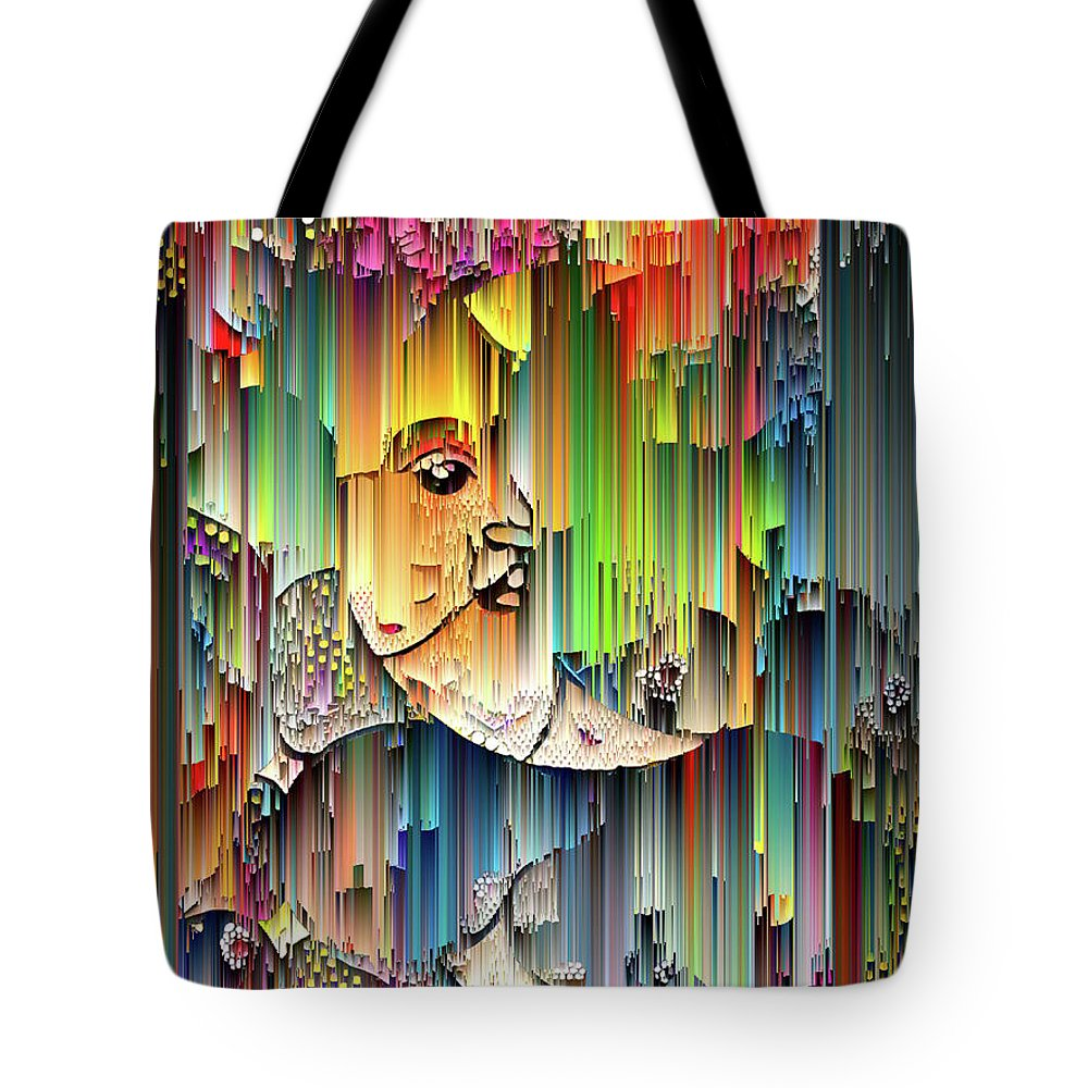 Moon Tote Bag featuring the digital art Moondrops by Jane Spaulding