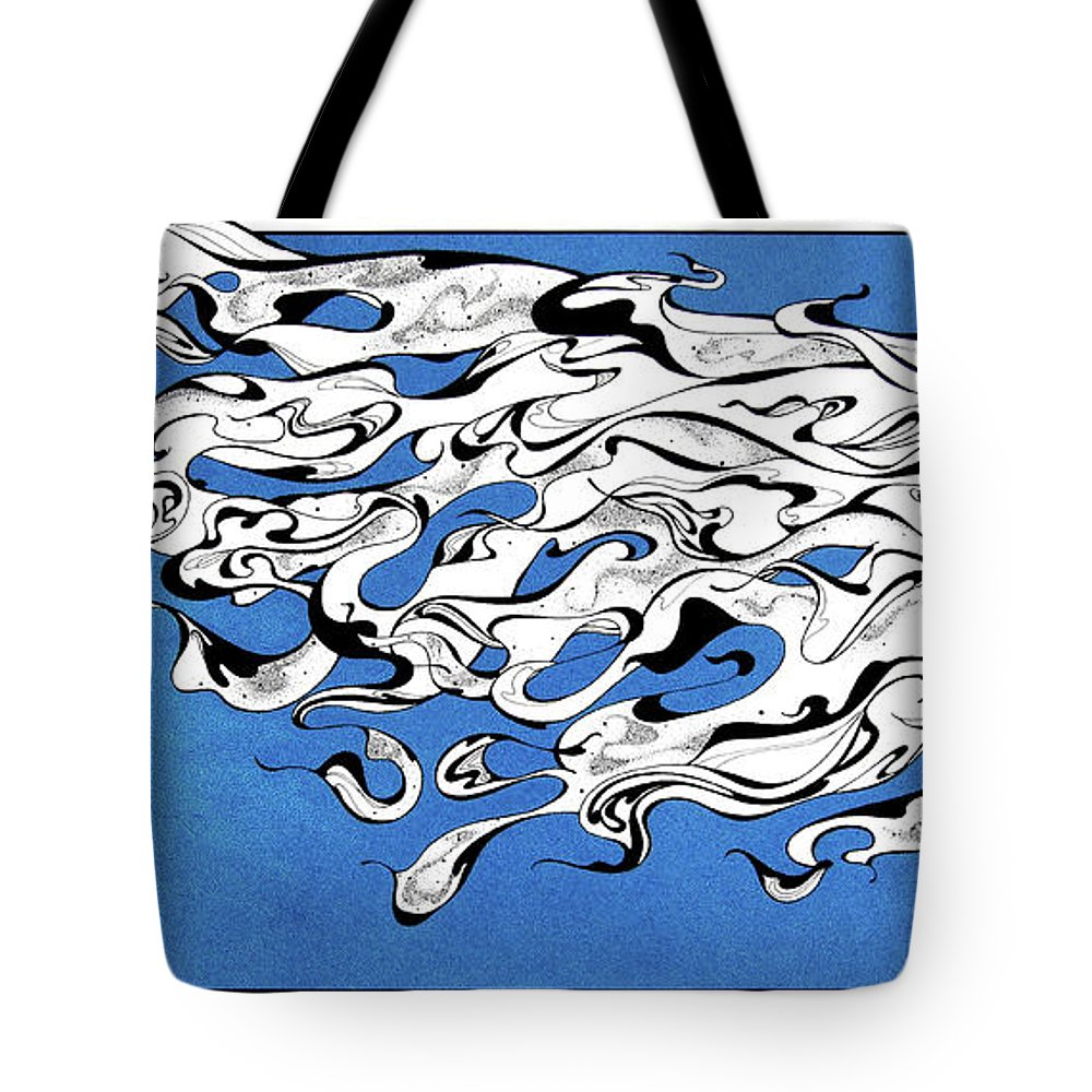 Wing Tote Bag featuring the mixed media Moonflight by Michele Sleight