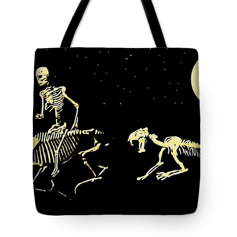 Art Tote Bag featuring the painting Moonlight Run by Larry Lamb