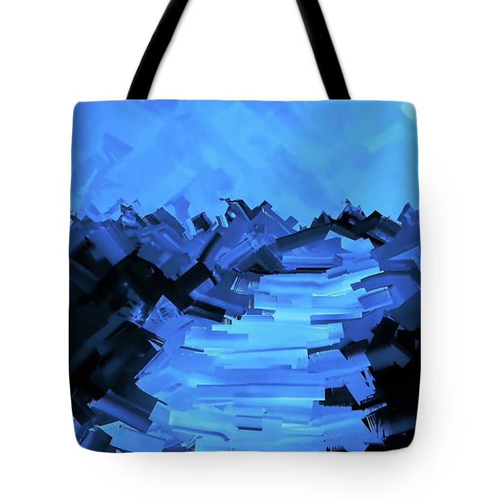 Digital Hand-drawn Painting Tote Bag featuring the digital art Moonlight Trek by Tim Richards