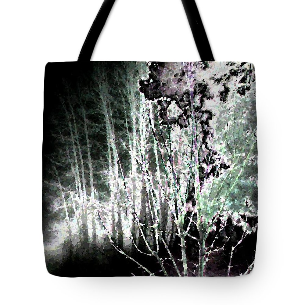 Abstract Tote Bag featuring the digital art Moonlight by Will Borden