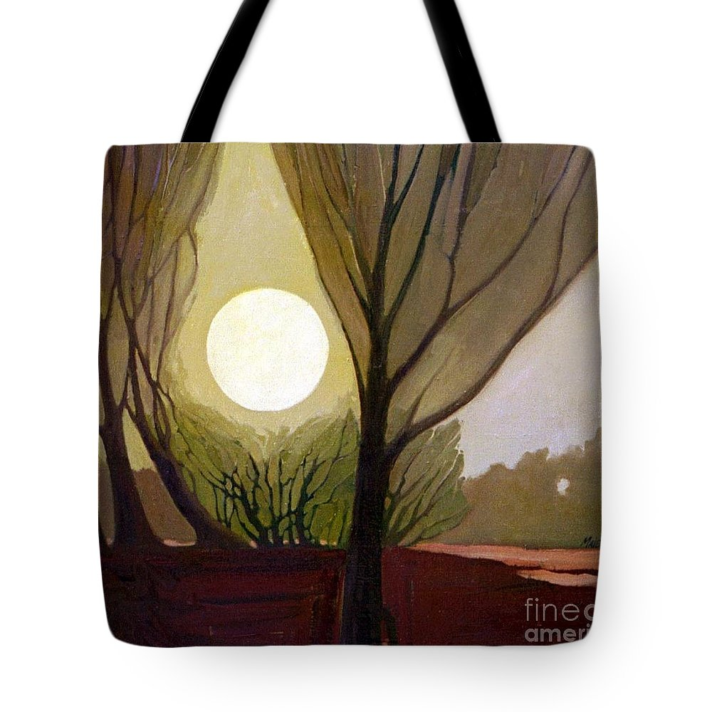 Dreamscape Tote Bag featuring the painting Moonlit Dream by Donald Maier