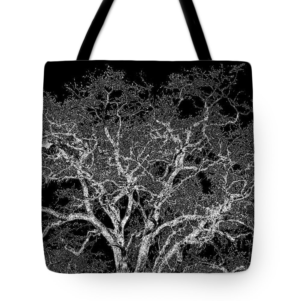 Photo Design Tote Bag featuring the digital art Moonlit Night by Will Borden