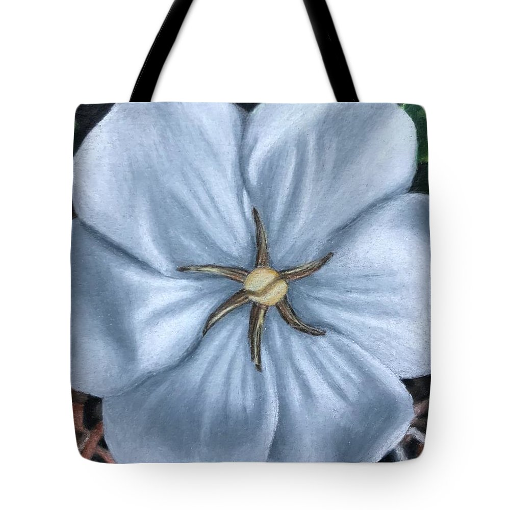 Colored Pencil Tote Bag featuring the drawing Moonlit Perfection by Syd Berenyi