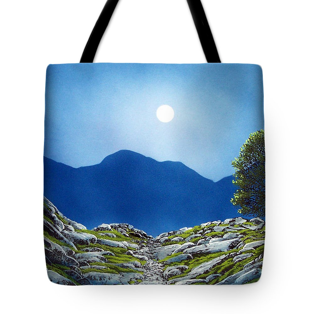 Landscape Tote Bag featuring the painting Moonrise by Frank Wilson