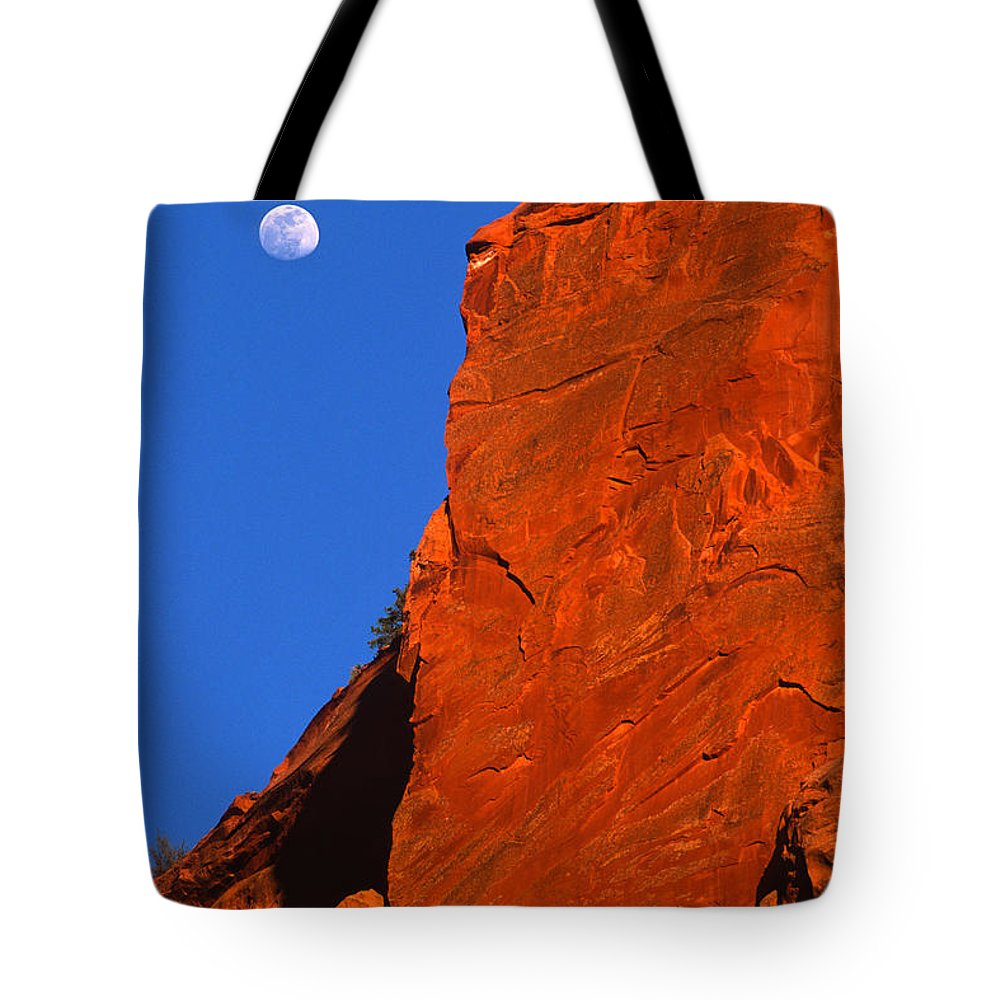 Full Moon Tote Bag featuring the photograph Moonrise In Grand Staircase Escalante by Sandra Bronstein
