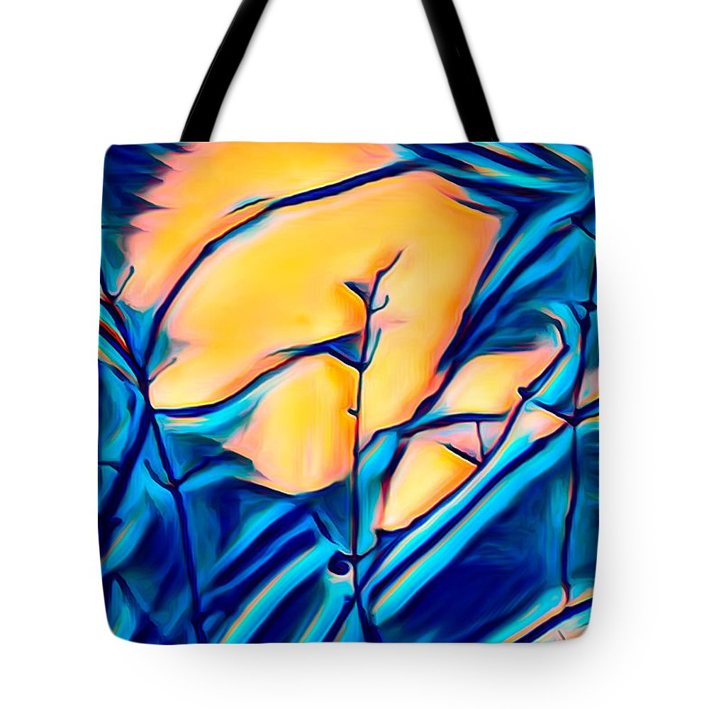 Graphic Tote Bag featuring the photograph Moonrise In The Branches by Scott Carlton