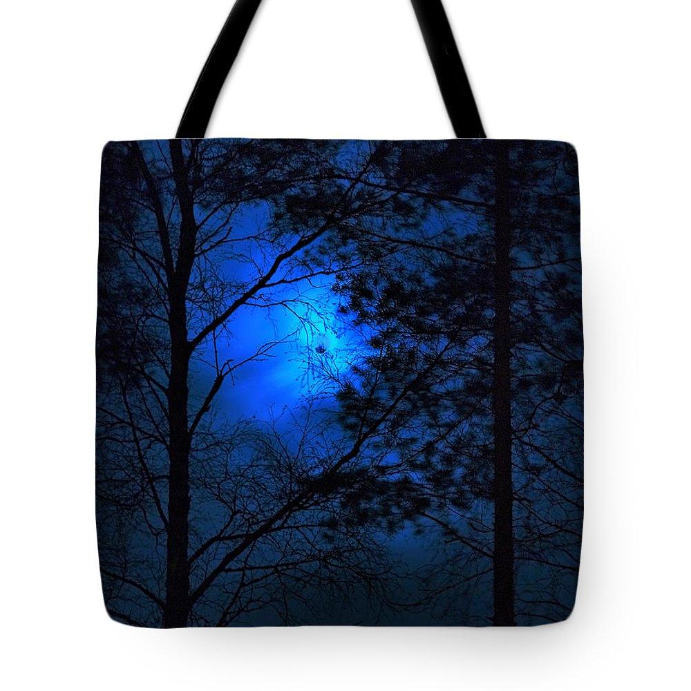 Lehtokukka Tote Bag featuring the photograph Moonshine 03 Bad Moon Rising by Jouko Lehto