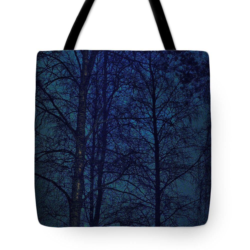 Lehtokukka Tote Bag featuring the photograph Moonshine 12 Blue Sky by Jouko Lehto