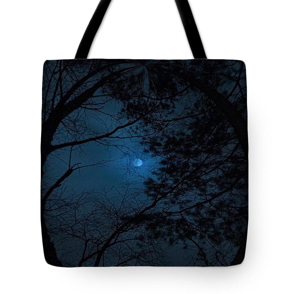 Lehtokukka Tote Bag featuring the photograph Moonshine 16 The Trees by Jouko Lehto