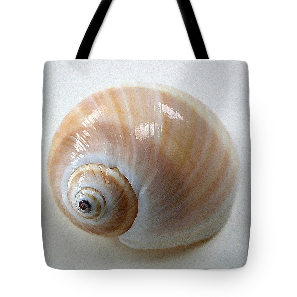 Shell Tote Bag featuring the photograph Moonsnail by Mary Haber