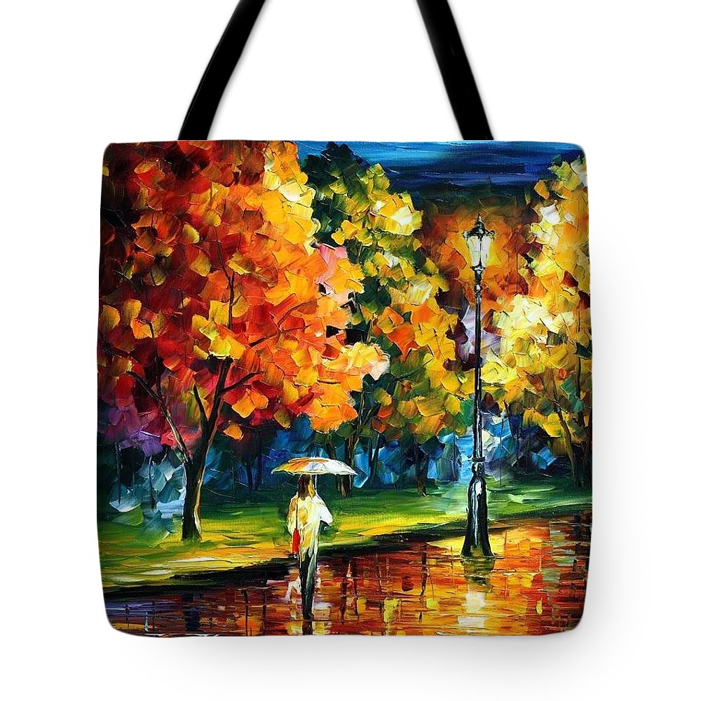 Afremov Tote Bag featuring the painting Moony Night by Leonid Afremov