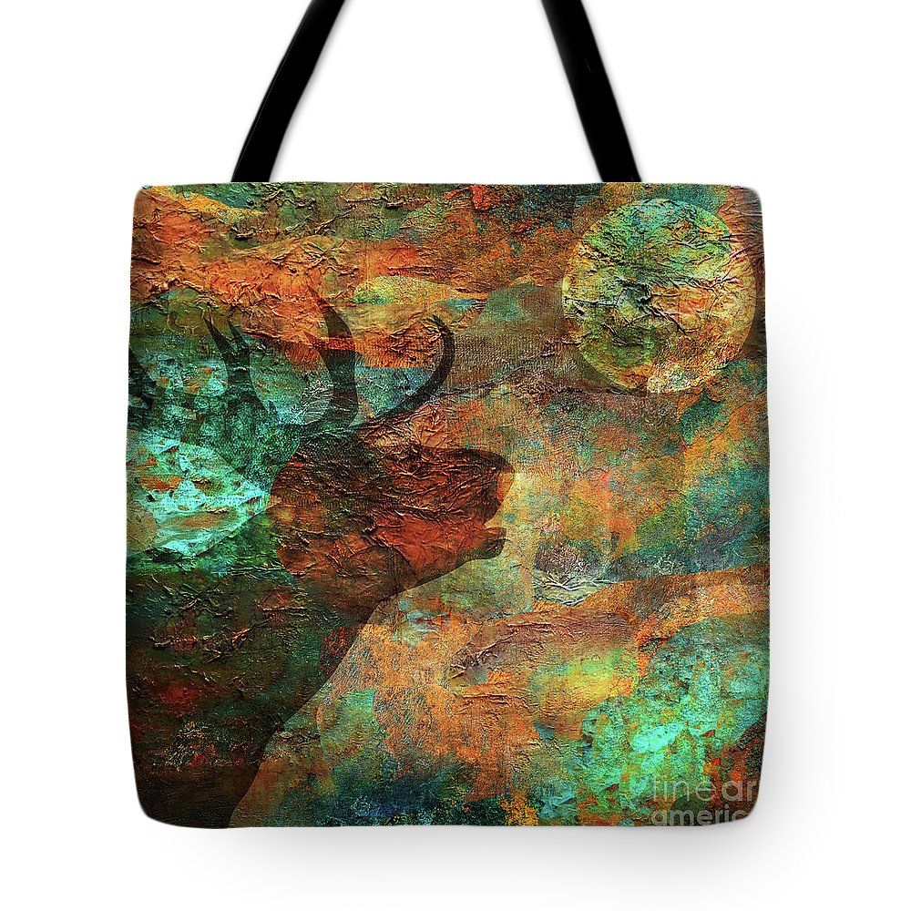 Moose Tote Bag featuring the painting Moose Calls by Mindy Sommers