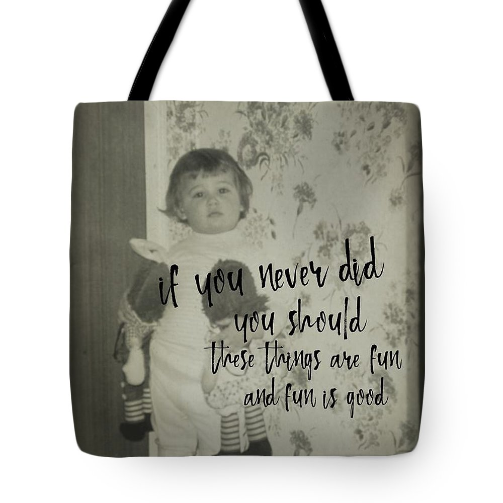 Vintage Tote Bag featuring the photograph Moppets Quote by JAMART Photography