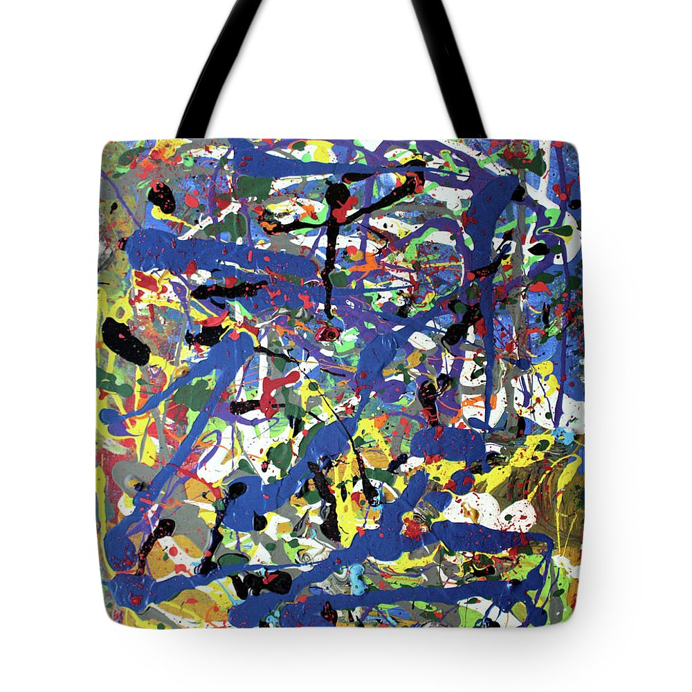 Blue Tote Bag featuring the painting More Blueness by Pam Roth O'Mara