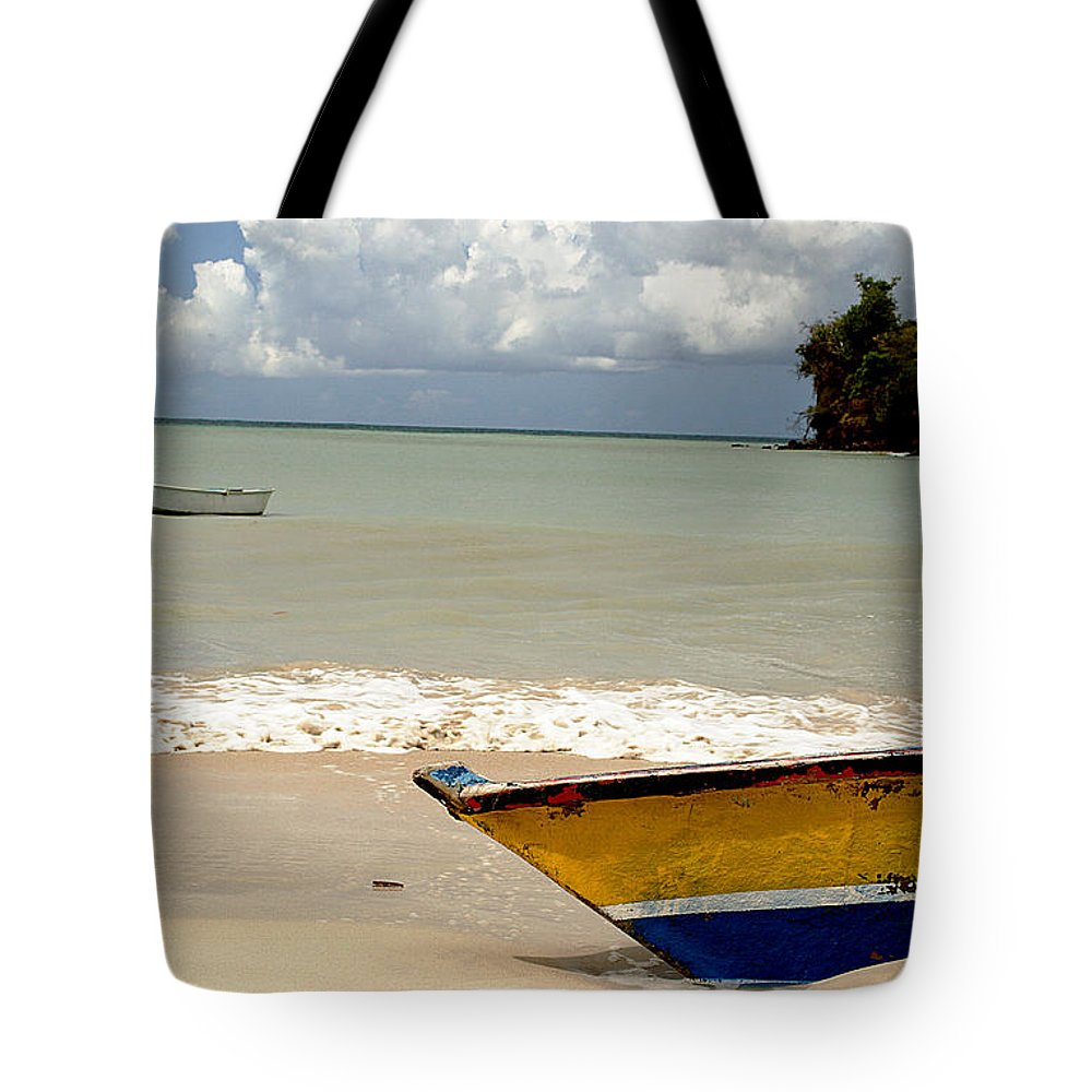 Boat Tote Bag featuring the photograph Morne Rouge Boats by Jean Macaluso