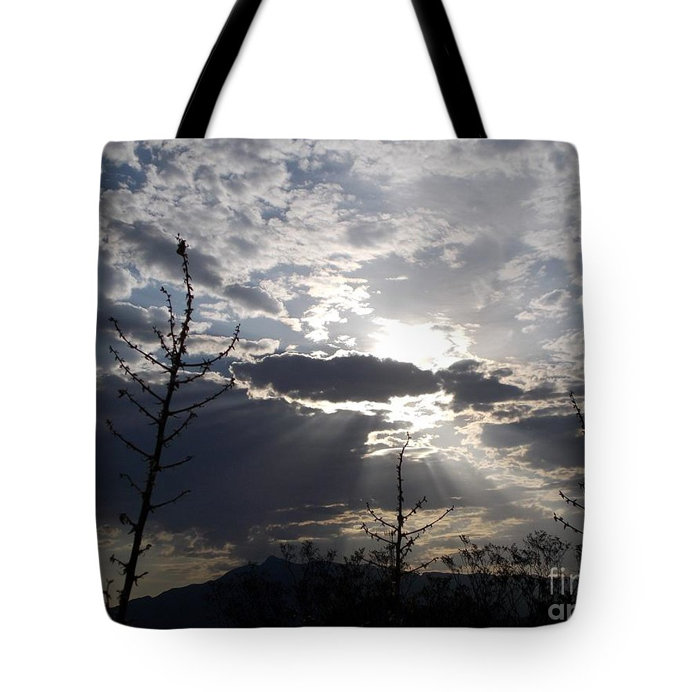 Arizona Sunrise Tote Bag featuring the photograph Morning After by Jerry Bokowski