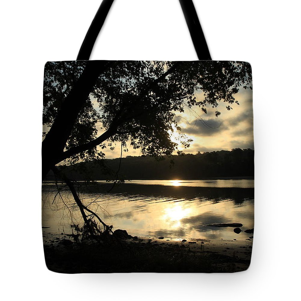 Sunrise Tote Bag featuring the photograph Morning Arises by Karol Livote