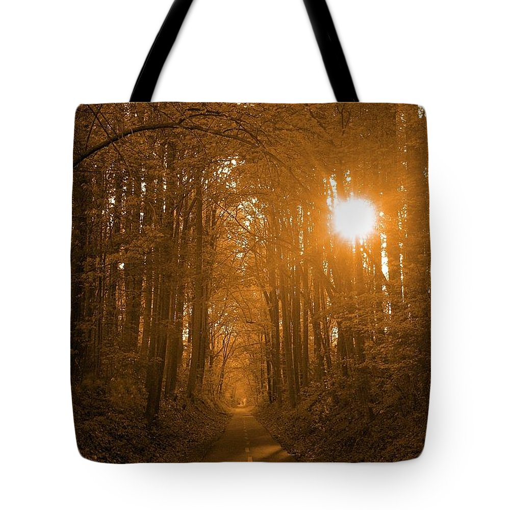 Sunrise Tote Bag featuring the photograph Morning Awaits by Mitch Cat