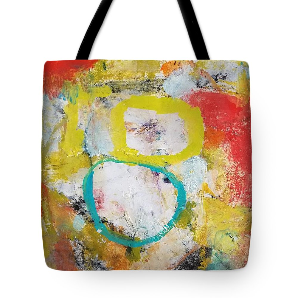 Abstract Tote Bag featuring the painting Morning Calm by Patricia Byron