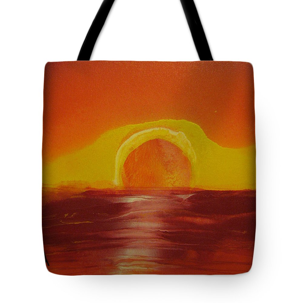 Sun Tote Bag featuring the painting Morning Comes by Allison Eads