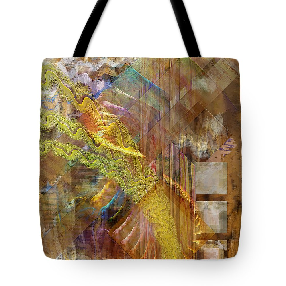 Morning Dance Tote Bag featuring the digital art Morning Dance by John Beck