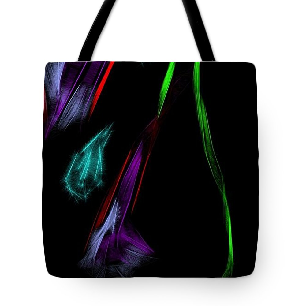 Floral Tote Bag featuring the drawing Morning Dew by Kerri Thompson