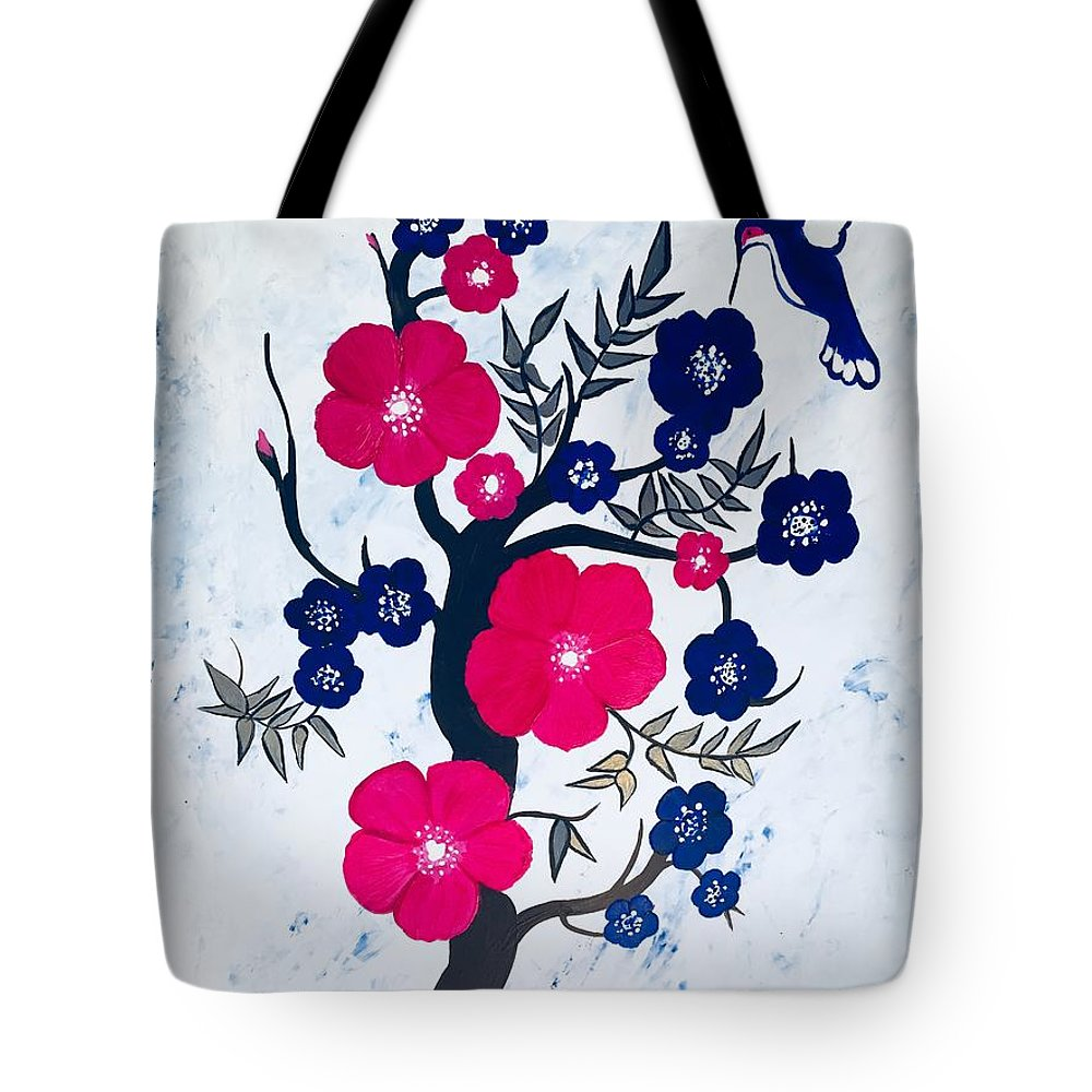 Chinoiserie Tote Bag featuring the painting Morning Feeding by Marti Magna